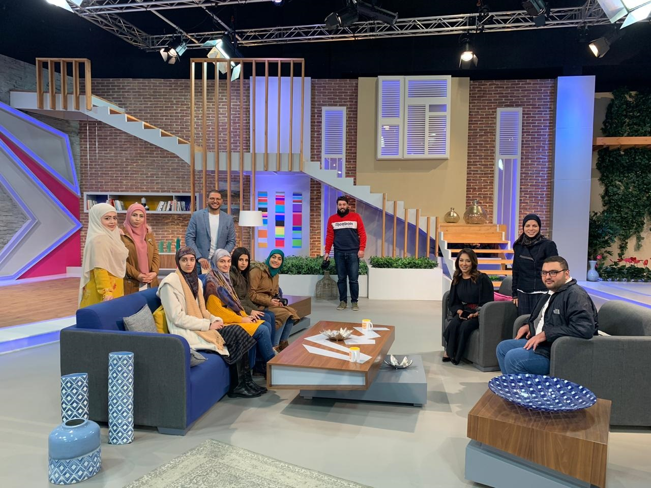 USAL media students at Al arabi TV