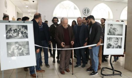 "Media students held a photo exhibition entitled ""Faces"""